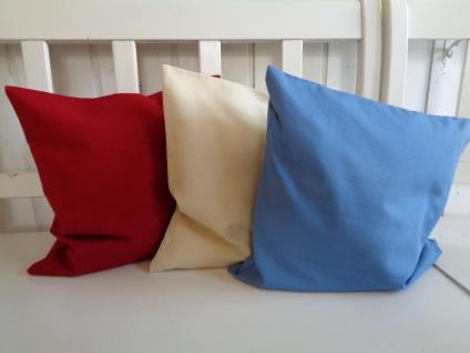 Kissen Kissenhülle Kombikissen Uni Baumwolle mit Teflonausrüstung verschiedene Farben 40x40 ohne Füllung