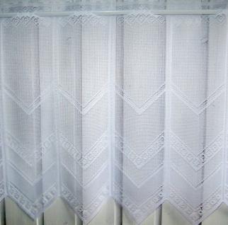 Scheibengardine Weiß durchbrochen H30, 45 oder 60 cm / Br. ab 1 Meter