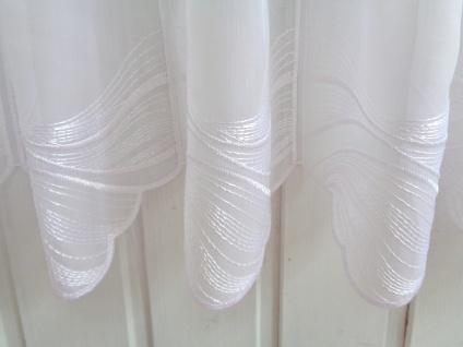 Scheibengardine Weiß Modern Welle 45 cm Höhe/ Br. ab 1 Meter
