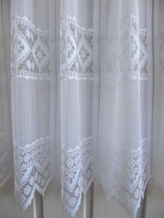 Scheibengardine Weiß Raute 45 cm o. 60 cm Höhe/ Br. ab 1 Meter - Vorschau 2