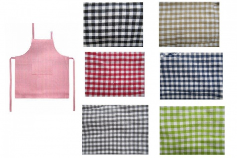 Schürze Kochschürze Kariert Vichy Karo Küchenschürze 7 Farben