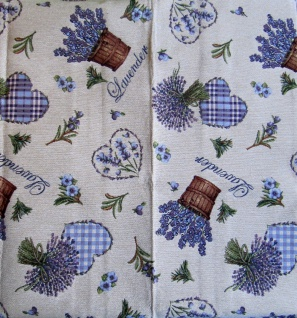 Tischdecke Lavendel Herz 85x85