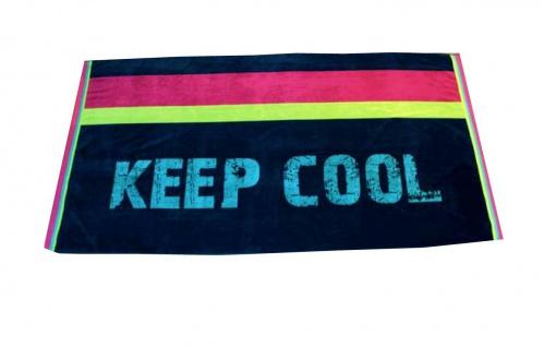Strandtuch Dunkelblau Keep Cool 95x175 Veloursfrottier