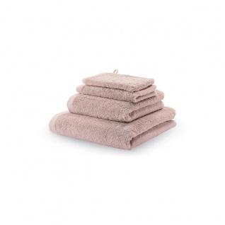 Waschhandschuh 3er Pack 16x22 London Aquanova Farbe Altrosa Dusty Pink - Vorschau 3