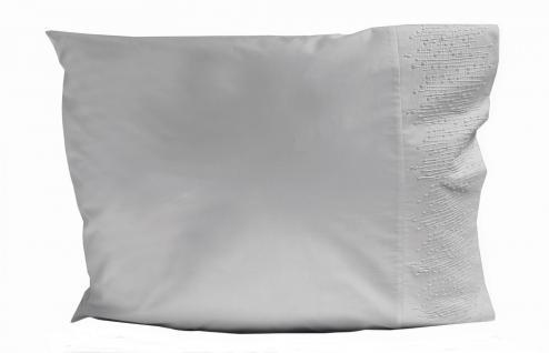 Kissenbezug 80x80 Grau Beige Ethan Aquanova mit Zipper