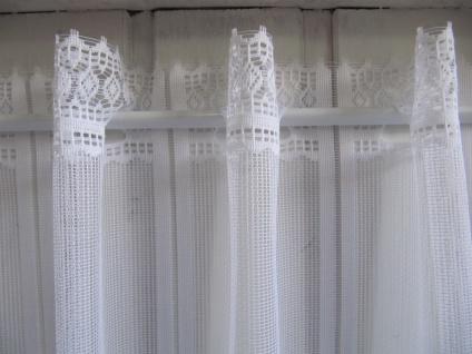 Scheibengardine Weiß Raute 45 cm o. 60 cm Höhe/ Br. ab 1 Meter - Vorschau 3