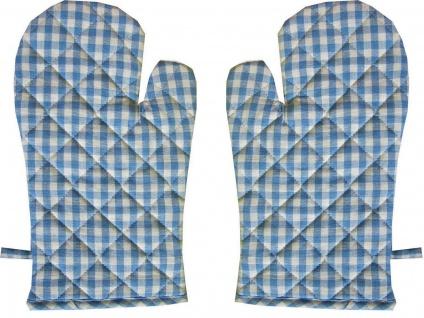 Ofenhandschuh Karo Vichy Hellblau 1 Paar