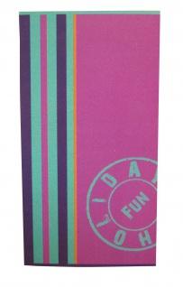 Strandtuch Pink 95x175 Veloursfrottier