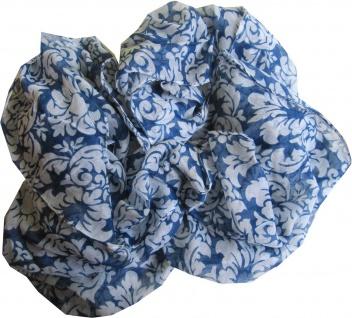 Loop Schal Schlauchschal Damen blau