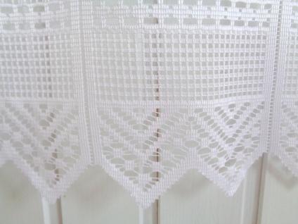 Scheibengardine Weiß durchbrochen 45 cm o. 60 cm Höhe/ Br. ab 1 Meter