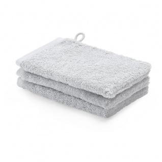 Waschhandschuh 3er Pack 16x22 London Aquanova Farbe Hellgrau Cool Grey