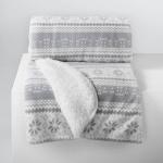 Plaid Sofadecke Kuscheldecke skandinavisch nordischer Stil Grau 125x150