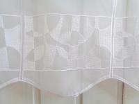 Scheibengardine Modern Weiß Grafik 45 cm o. 60 cm Höhe/ Br. ab 1 Meter