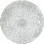 Tischset Platzmatte silber rund Platzset 35cm