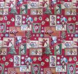 Tischdecke Weihnachten Rot mehrfarbig 85x85