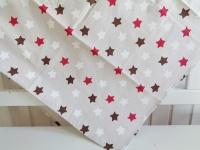 Tischdecke Sterne Stars Weihnachten Weihnachtsdecke 85x85 Natur Rot