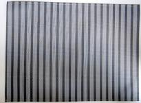 Tischset Grau gestreift PVC Wally 45x33