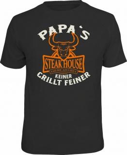 Grill T-Shirt Papa's Steak House Shirt bedruckt Geburtstag Geschenk bedruckt