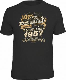 lustiges Geburtstag T-Shirt - 100% Premium Qualität seit 1957 Fun Shirt Geschenk