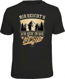 Herren Wander T-Shirt bedruckt- Ich geh in die Berge - lustige Shirts für Männer