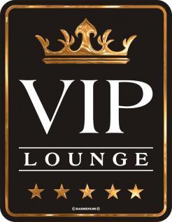 Humor Kühlschrankmagnet VIP Lounge 5 Sterne Kühlschrank Magnet Fun Schild Metall