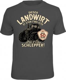 Herren T-Shirt - Landwirt über 50 - lustige Geschenke Männer Geburtstag-Shirts