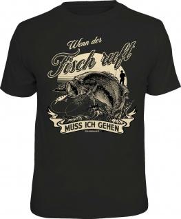 Herren Angler T-Shirt - Wenn der Fisch ruft - lustige Sprüche Shirts für Männer