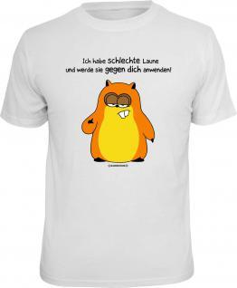 Fun T-Shirt Hamster Schlechte Laune gegen Dich Shirt Geschenk geil bedruckt