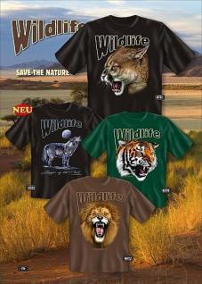 Fun Collection T-Shirt Wildlife Natur Tiere Shirts Geschenk Auswahl bedruckt