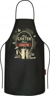 Männer Grillschürze - Mein Garten Meine Gesetze - Schürze lustige Kochschürze