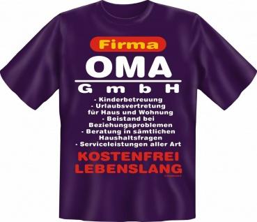 T-Shirt - Firma Oma GmbH - Geburtstag Muttertag Fun Shirts Geschenk bedruckt