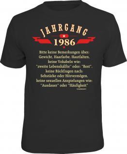 Geburtstag T-Shirt Jahrgang 1986 Fun Shirt 4 Heroes Geschenk geil bedruckt