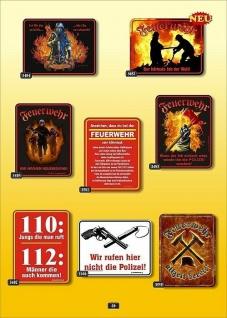 Fun Collection Blechschild Feuerwehr FFW 112 Schild Geschenk Auswahl bedruckt - Vorschau 1