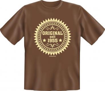 Geburtstag T-Shirt Original seit 1955 Fun Shirt Geschenk geil bedruckt