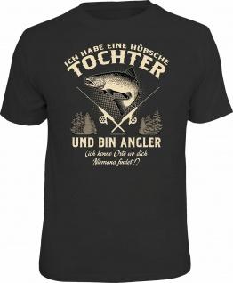 Vatertag T-Shirt Angler und hübsche Tochter Angler T Shirt Geschenk bedruckt
