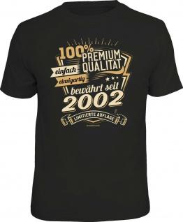 Geburtstag T-Shirt -18 Jahre 100% Premium Qualität seit 2002 Fun Shirt Geschenk