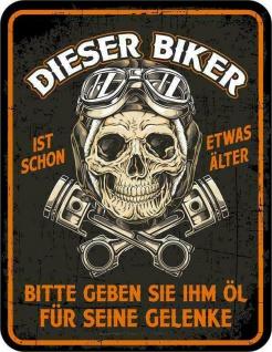 Geburtstag Schild - Biker ist schon etwas älter- Motorrad Blechschild Geschenk