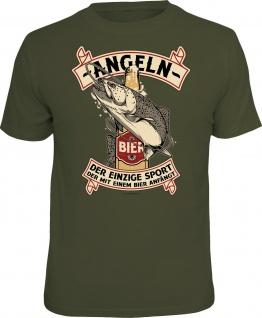 Herren Angler T-Shirt - Angeln - Sport mit Bier - lustige Geschenke für Männer