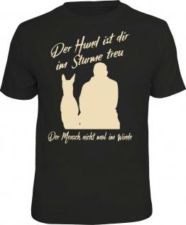 Herren T-Shirt - Hund im Sturme treu - lustige Geschenke für Männer Fun-Shirts