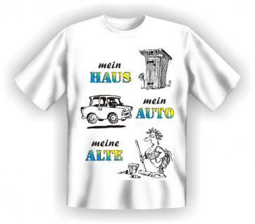 T-Shirt - Haus Auto Alte - Vorschau