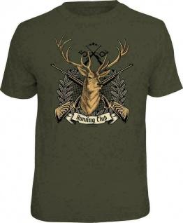 Herren Jäger T-Shirt - Hunting Club - lustige Sprüche T Shirts für Männer