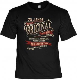 lustiges Geburtstag T-Shirt - 70 Jahre Original seit 1951 Herren Shirt Geschenk