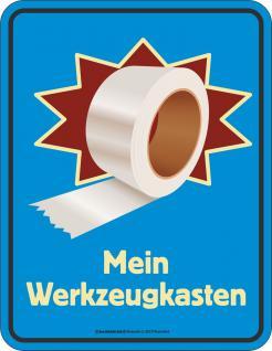Fun Schild - Mein Werkzeugkasten Tape Blechschild - Vorschau