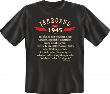 Geburtstag T-Shirt - Jahrgang 1945 Geschenk