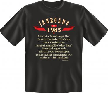 Geburtstag T-Shirt - Jahrgang 1985 Geschenk
