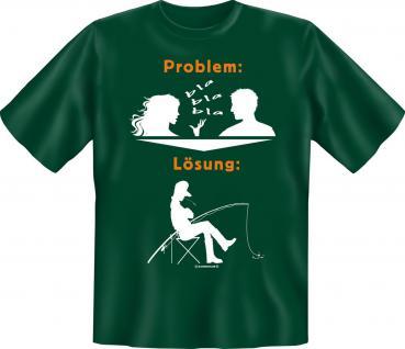 Angler T-Shirt - Problem Lösung Angeln Shirt