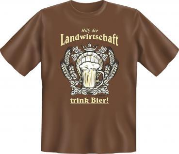 T-Shirt - Hilf der Landwirtschaft - Trink Bier