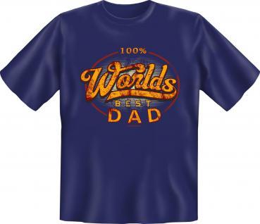 Vatertag T-Shirt - 100 % Worlds Best Dad