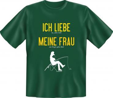 Angler T-Shirt - Ich liebe meine Frau beim Angeln - Vorschau
