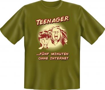Fun T-Shirt - Teenager ohne Internet